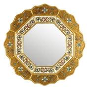 Novica Star Wall Mirror; Gold