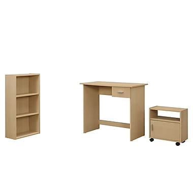 Monarch 3 Piece Computer Desk Set, Maple