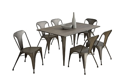 Monarch Specialties Bronze Metal Cafe 2Pcs Dining Chair ( I 1081 )