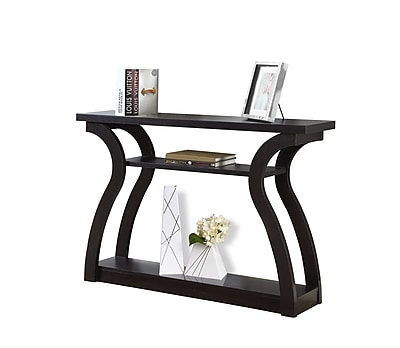 monarch specialties wood console table, cappuccino, each (i 2445