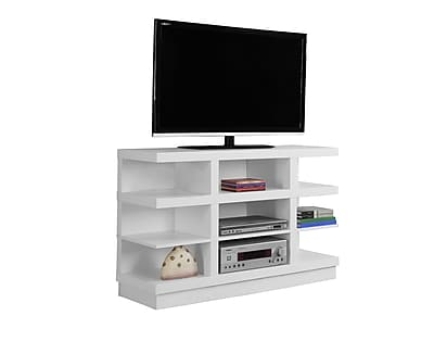 Monarch Specialties TV Stand White (I 2687)