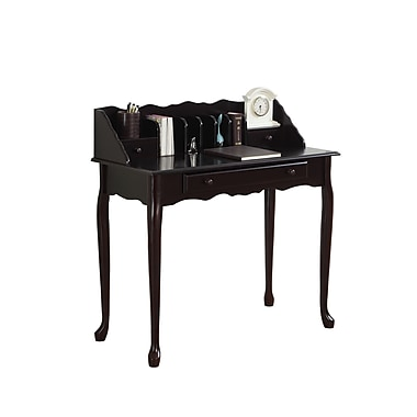 Monarch Traditional Console Table, Dark Cherry