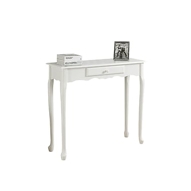 Monarch – Table console, 36 po de long, blanc antique