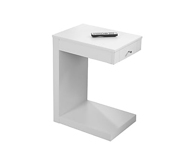 Monarch Specialties Medium Density Fiberboard Accent Table, White, Each (I 3192)