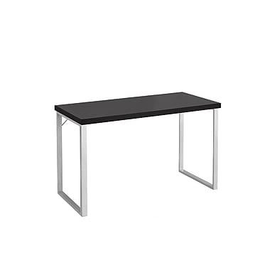 Monarch – Bureau d'ordinateur, 48 po long., cappuccino/métal argenté