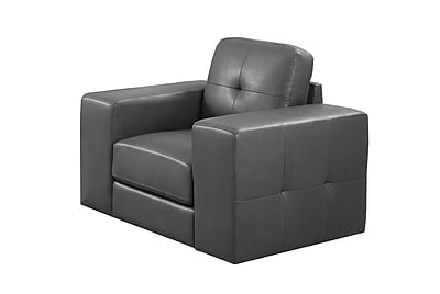 Monarch Specialties Charcoal Grey Bonded Leather Chair ( I 8221GY )