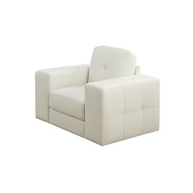 Monarch Bonded Leather Chair, Ivory Bonded Leather