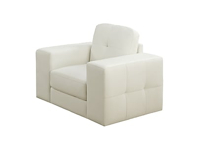 Monarch Specialties Ivory Bonded Leather Chair ( I 8221IV )