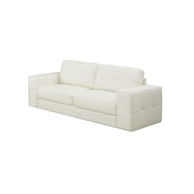 Monarch Bonded Leather Sofa, Ivory