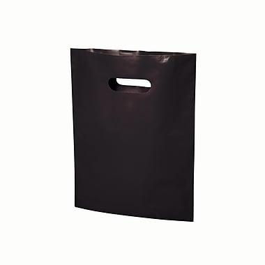 B2B Wraps – Sacs découpés, couleurs mode unies, 9 po x 12 po, noir, paq./1000