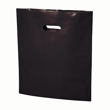 B2B Wraps – Sacs découpés, couleurs mode unies, 17 po x 19 po, noir, paq./500