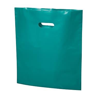 B2B Wraps – Sacs découpés, couleurs mode unies, 17 po x 19 po, turquoise, paq./500