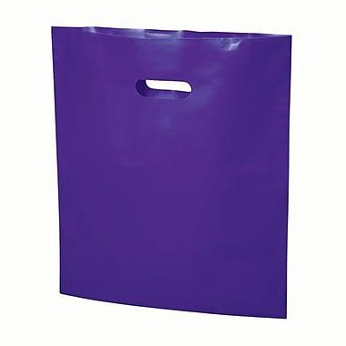 B2B Wraps – Sacs découpés, couleurs mode unies, 17 po x 19 po, violet, paq./500