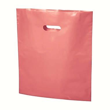 B2B Wraps – Sacs découpés, couleurs mode unies, 17 po x 19 po, rose, paq./500