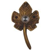 Waterwood Hardware Brass Small Leaf Doorbell; Antique Brass