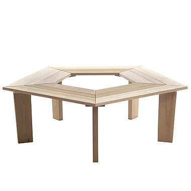 All Things Cedar 5 Sided Wood Tree Bench
