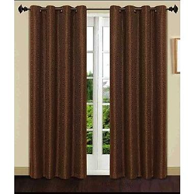 Dainty Home Gloria 8 Grommets Single Window Curtain Panel; Beige