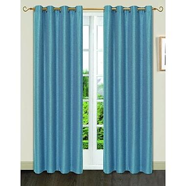 Dainty Home Gloria 8 Grommets Single Curtain Panel; Navy