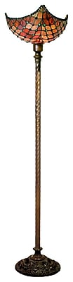 Warehouse of Tiffany Amber 72'' Torchiere Floor Lamp