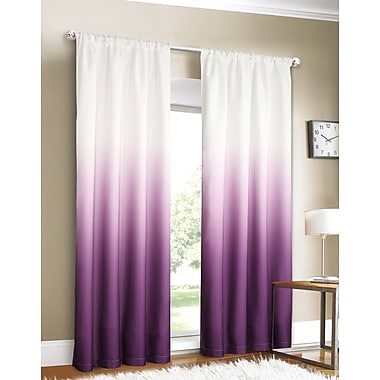 Dainty Home Shades Curtain Panels (Set of 2); Purple