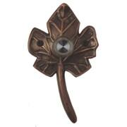 Waterwood Hardware Brass Small Leaf Doorbell; Oil Rubbed Bronze