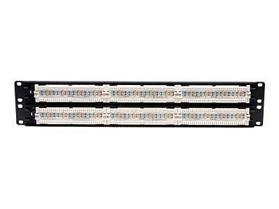 Tripp Lite Metal 48 Port Rack-Mount Cat5e Network Patch Panel, 19