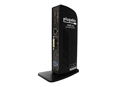 Plugable Dual Display Universal USB 3.0 Docking Station, Black (UD-3900)