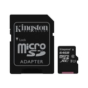 Kingston® SDC10G2/64GB Class 10 UHS-I 64GB microSDXC Flash Memory Card