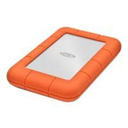 LaCie Rugged Mini 1TB 5 Gbps USB 3.0 External Hard Drive, Orange/Silver (LAC301558)
