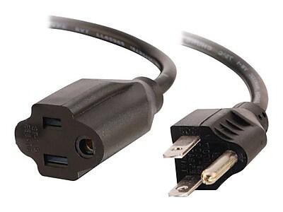 C2G ® 6' NEMA 5-15P/NEMA 5-15R Female/Male Outlet Saver Power Extension Cord, Black (3115)