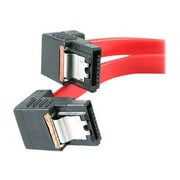 StarTech 1.5' Right Angle Latching SATA Cable, Red (LSATA18RA2)
