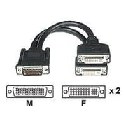 "C2G ® 38064 9"" LFH-59 to DVI Video Cable, Black"