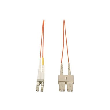 Tripp Lite N316 20' LC/SC Male/Male Duplex 62.5/125 OM1 Multimode Fiber Optic Patch Cable, Orange