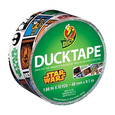 ShurTech – Ruban pour conduits Duck Tape® à motif Star Wars™, 1,88 po x 10 verges