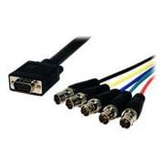Comprehensive® Pro AV/IT Series 1' HD-15 VGA/BNC Jacks Male/Female Video Cable, Black
