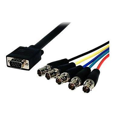 Comprehensive® Pro AV/IT Series 2' HD-15 VGA/BNC Jacks Male/Female Video Cable, Black