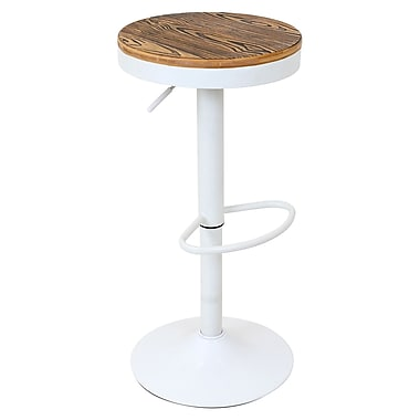 Lumisource Dakota Bar Stool, White (BS-TW-DAK W)