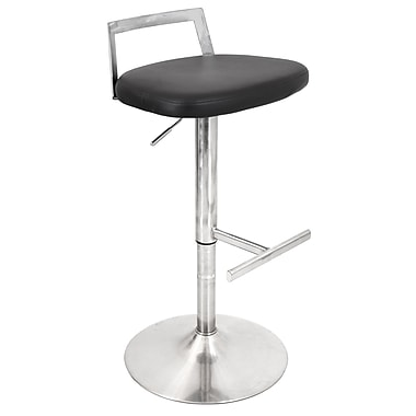 Lumisource Nano Bar Stool, Black (BS-TW-FLAT BK)