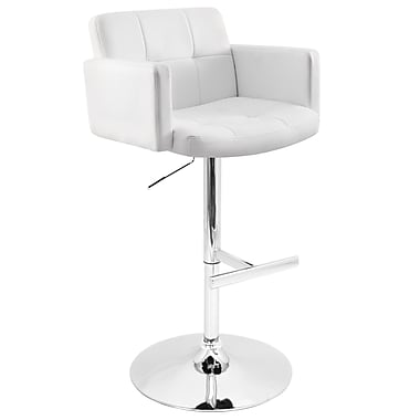 Lumisource Stout Bar Stool, White (BS-TW-STOUT W)