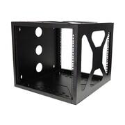 StarTech Wall/Side Mount Open Frame Rack Cabinet, Black