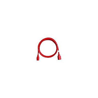 Raritan® SecureLock™ 5' Rack PDU Locking Power Cord, Red, 6/Pack (SLC14C13)