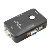 4XEM™ 2 Port 250 MHz VGA Female/Female Video Splitter, Black