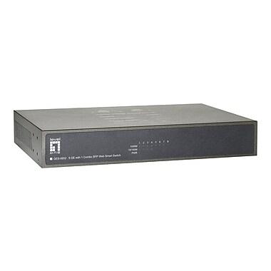 LevelOne® GES-0852 8 Port 10/100/1000Base-T Desktop Managed Ethernet Switch, Black