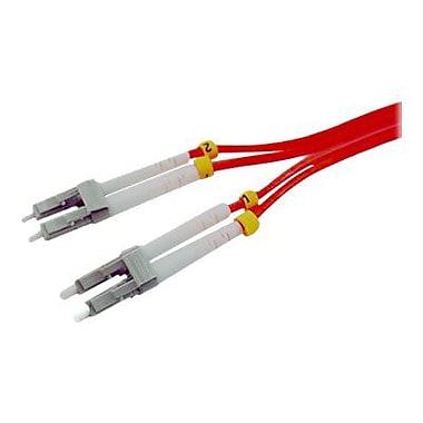 Comprehensive® LC-LC-MM-15M 15 m LC to LC Male/Male OM1 Duplex Fiber Optic Patch Cable, Orange