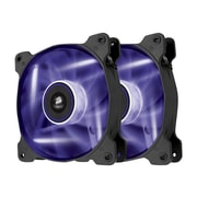 Corsair Air Series AF120 Sleeved Bearing Purple LED Quiet Edition Cooling Fan, Black, 2/Pack (CO-9050016-PLED)