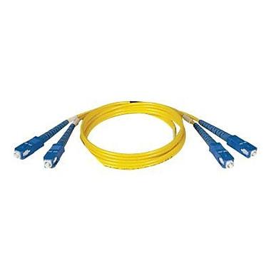 Tripp Lite N356 33' SC Male/Male Duplex Singlemode Fiber Optic Patch Cable, Yellow