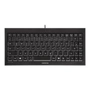CHERRY USB Compact Quiet Keyboard, Black (JK-0700)