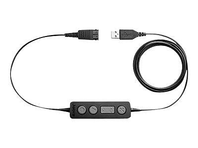 Jabra ® Link 260 USB Type A Male/Quick Disconnect Male Headset Adapter, Black
