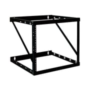 Tripp Lite SmartRack 12U Wall Mount Heavy-Duty Low-Profile 2-Post Open Frame Rack, Black (SRWO12UHD)