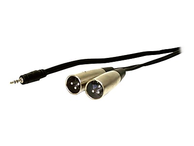 Comprehensive Standard Series 10' General Purpose 3.5mm Mini-Phone Stereo to 2 x XLR Male/Male Y-Cable, Black IM1XU0351